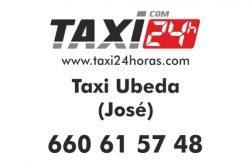 taxi 24 horas ubeda jaen taxi jose